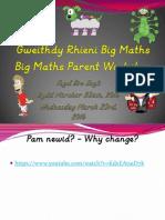 gweithdy rhieni big maths