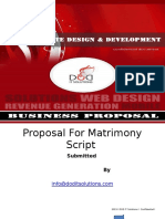 Proposal for Matrimony Script Ppt