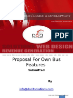 Proposal for Own Bus Features Ppt