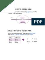 notes - present progressive