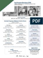 Spring Program Brochure 2016