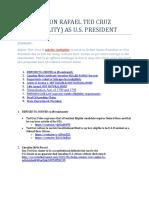 Tedcruz Ineligible to be U.S. President - Open Challenge Claim