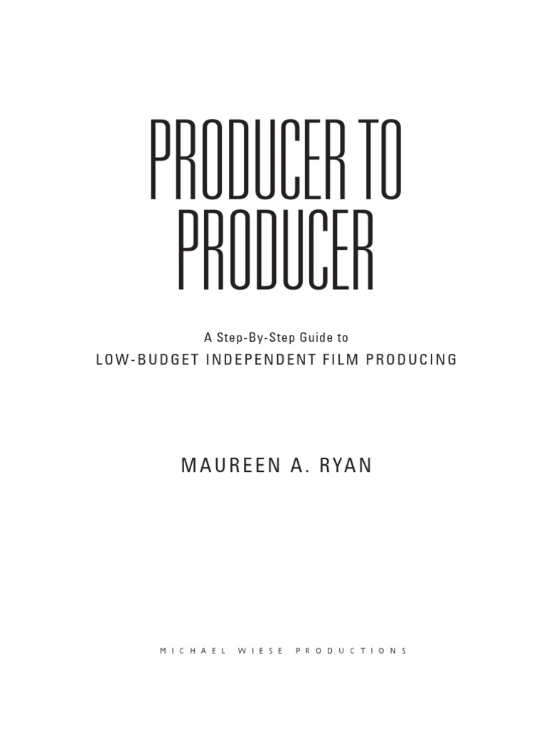 Producer to Producer Sample PDF | Screenplay | Filmmaking