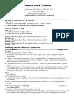 catriona white teaching resume 5