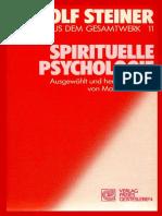 RUDOLF  STEINER - TTB 11 - SPIRITUELLE  PSYCHOLOGIE