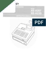 Sharp XE-A207 CR Manual