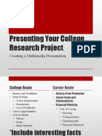presenting your college research project