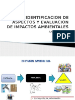 Identificacion de Aspectos y Evaluacion de Impactos Ambientales