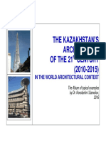 THE KAZAKHSTAN'S ARCHITECTURE OF THE 21st CENTURY (2010-2015) IN THE WORLD ARCHITECTURAL CONTEXT - The Album of typical examples by Dr. Konstantin I.Samoilov, 2016