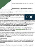 Resumen de Bobbio | Fundamentos de Ciencia Política (Cátedra