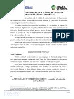 NORMAS INTERNAS DE ELABORAÇÃO DE ARTIGO PARA TRABALHO DE CURSO – GEOGRAFIA