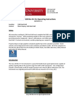 Cary 100 UV-Vis Operating Instructions