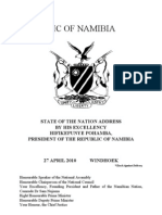 State of Nation Address by the President of Namibia