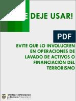 Guia Para Evitar Ser Usado en Operaciones de Lavado de Activos y Financiacion Del Terrorismo
