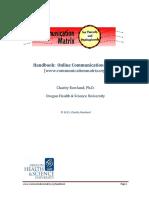 Handbook Communication Matrix
