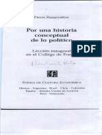 Rosanvallon, Historia Conceptual de Politico 2003