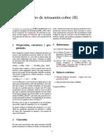 Sulfato de Tetraamín Cobre (II)