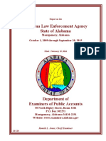 Report on the Alabama Law Enforcement Agency State of Alabama