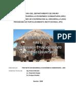 Formacion y Funcionamiento Empresas Comunitarias
