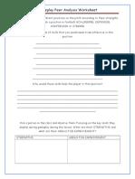 gameplay peer analysis worksheet