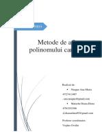 Metode numerice de determinare a radacinilor unui polinom