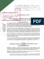 Ley Participación y Control Social, Bermejo