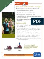 Lyme Disease Hikers Guide