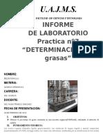 Informe Organica Ceanit (Grasas))