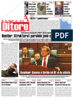 Koha Ditore Frontpage, March 2nd 2010