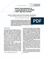 Automatic determination of 5 hydroximethylfurfural by a flow inyection method.pdf