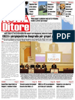 Koha Ditore Frontpage, March 4th, 2010