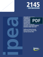 Uma Analise Por Tipologia Da Política Nacional de Desenvolvimento Regional Entre 1999 e 2011 - IPEA