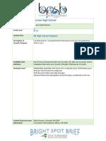 Bright Spot Brief for Benton HS 020116