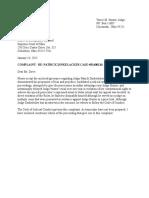 Judge Tracie Hunters Complaint against  Judge Dinkelacker 1-12-15