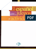Español Con Juegos y Actividades. Nivel Elemental
