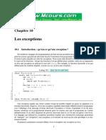 Java Chapitre 10 Les Exceptions