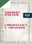 LIBRO WIENER Norbert - Cibernética y Sociedad