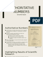 authoritative numbers