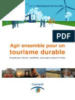 Agir Ensemble Pour Un Tourisme Durable