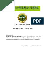 Codigo de Edificacion Boletin Extra 481