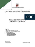 Tomo i - Censo de Comunidades Indígenas en Perú