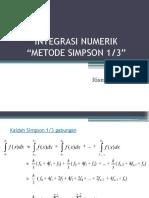 Metode Simpson Sepertiga