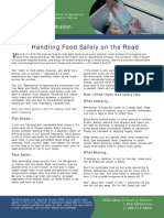 handling food safely on the road