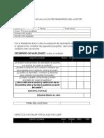 Formato de Evualuacion de Desempeño Del Auditor