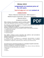 MH0052-Hospital Organization, Operations and Planning