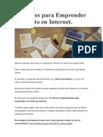 10 Claves Para Emprender Con Exito en Internet