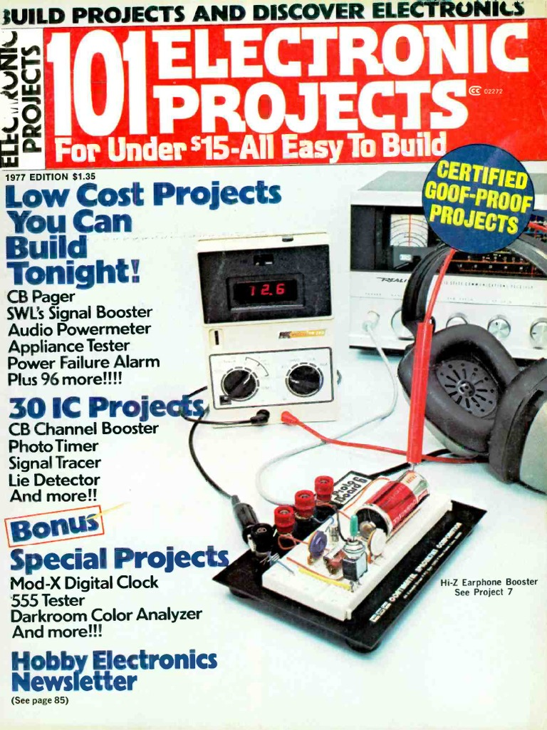 101 Electronics Projects 1977 Electronic Circuits Am Broadcasting 9v Negative Power Supply Units