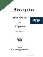 Billerbeck 1900 Der Festungsbau Im Alten Orient