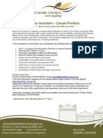 Information Package - Casual Library Assistant 2014