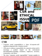 Csr and Ethical Issues